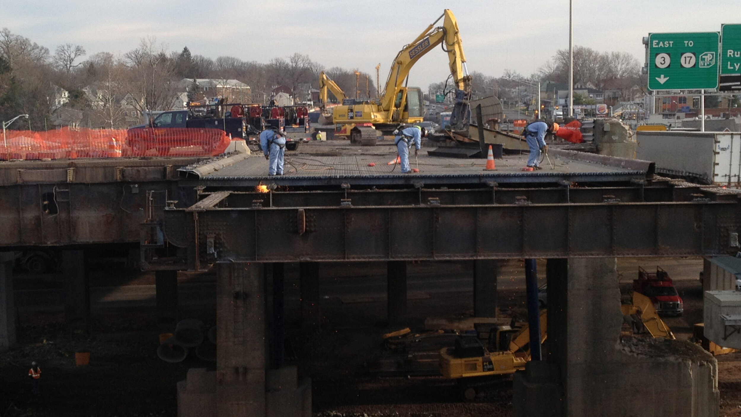 Demolition of Route 3 over the passaic