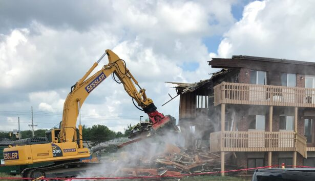 Demolishing apartments