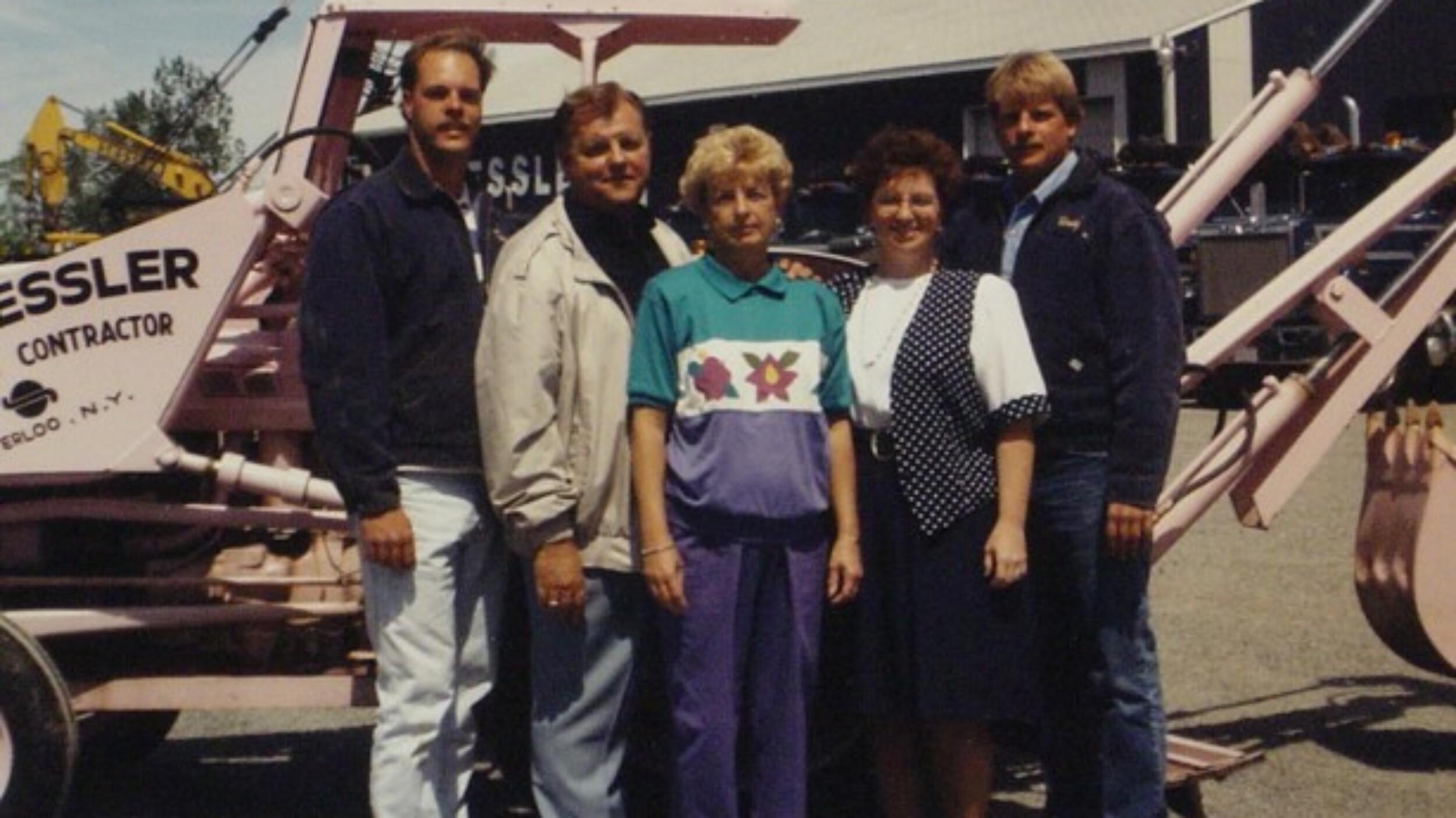 Pink Backhoe Family