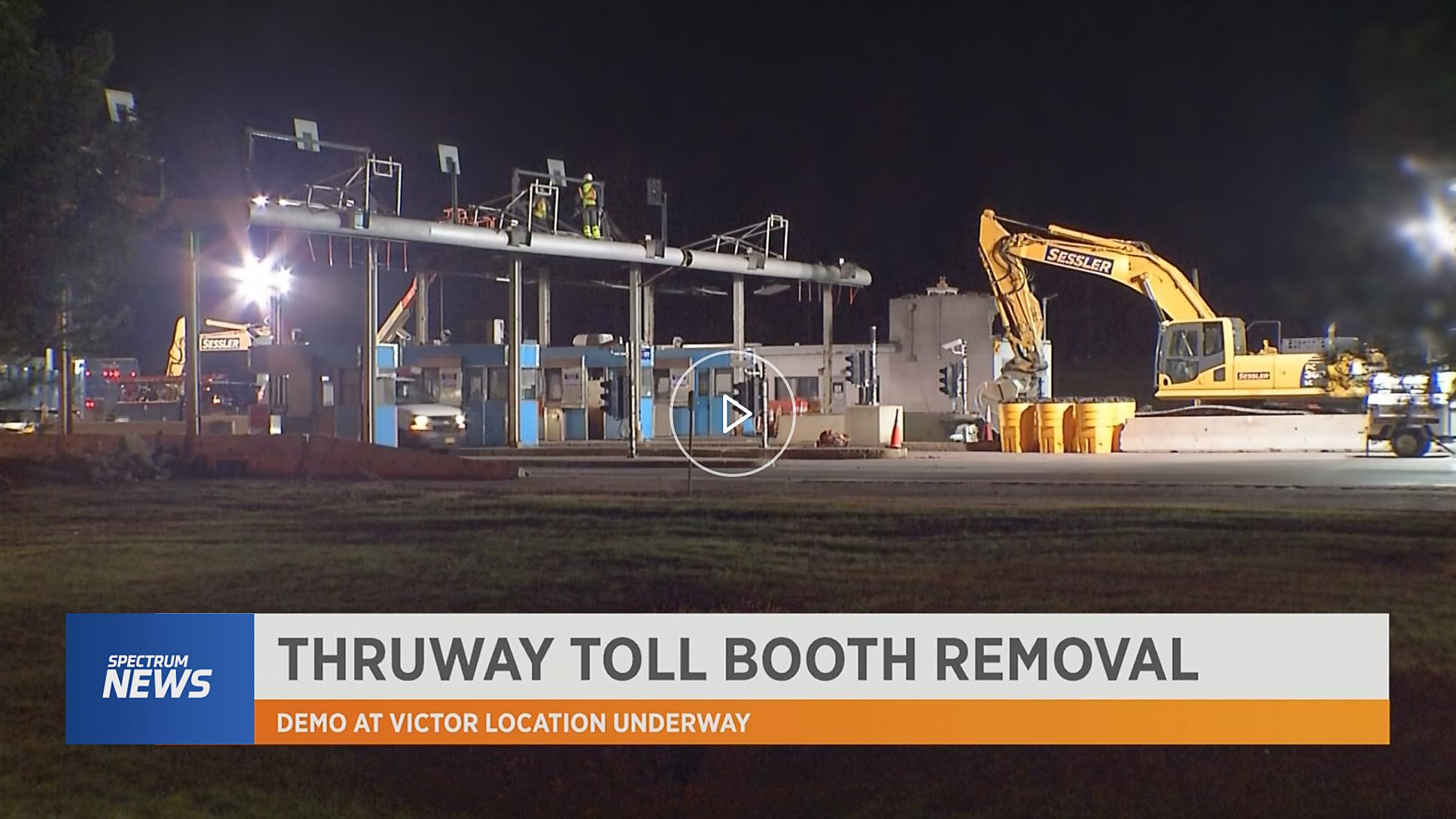 Demolition Thruway Toll Booths Begins Victor Sessler Wrecking