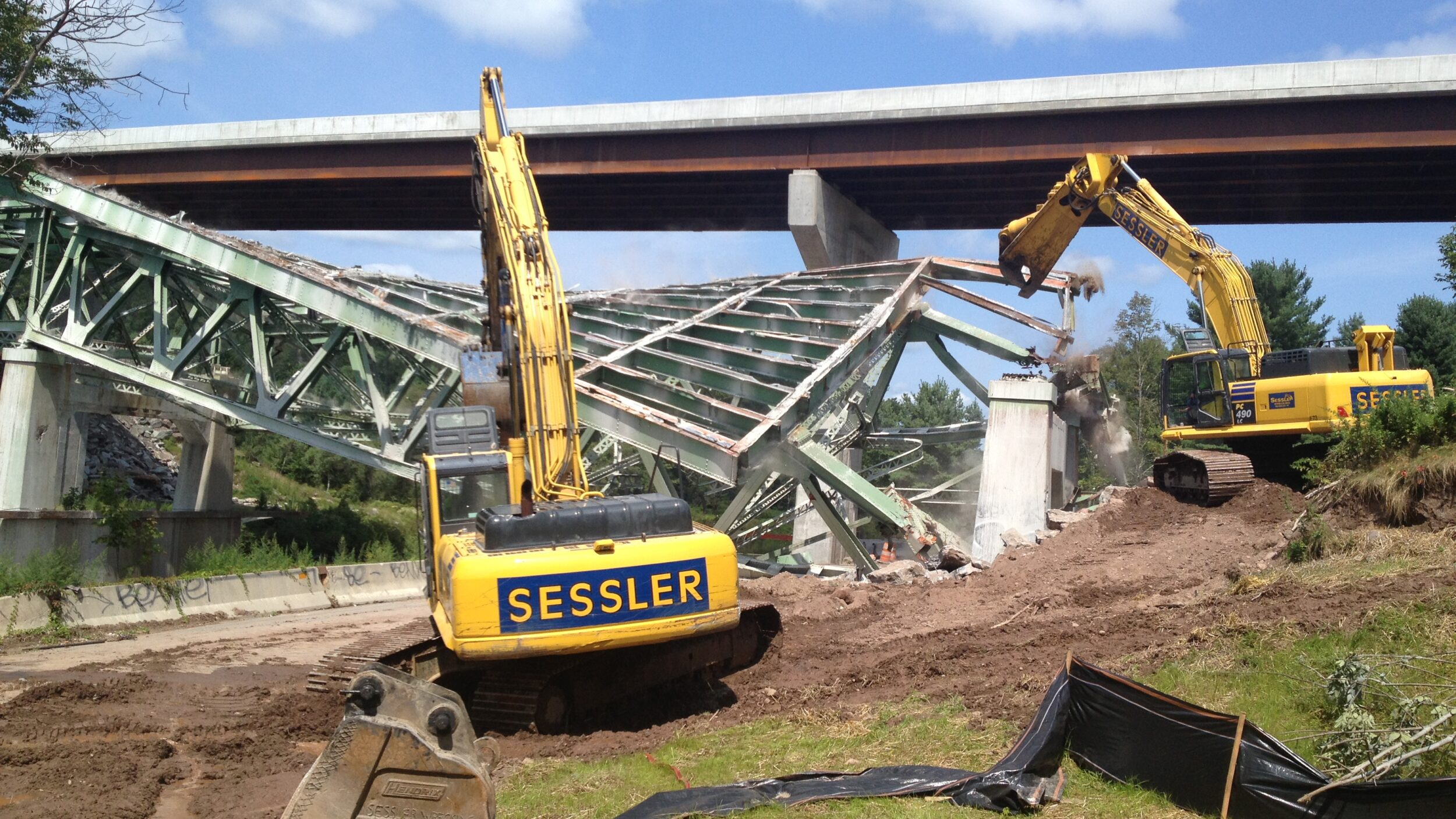 Sessler Wrecking Bridge Demolision