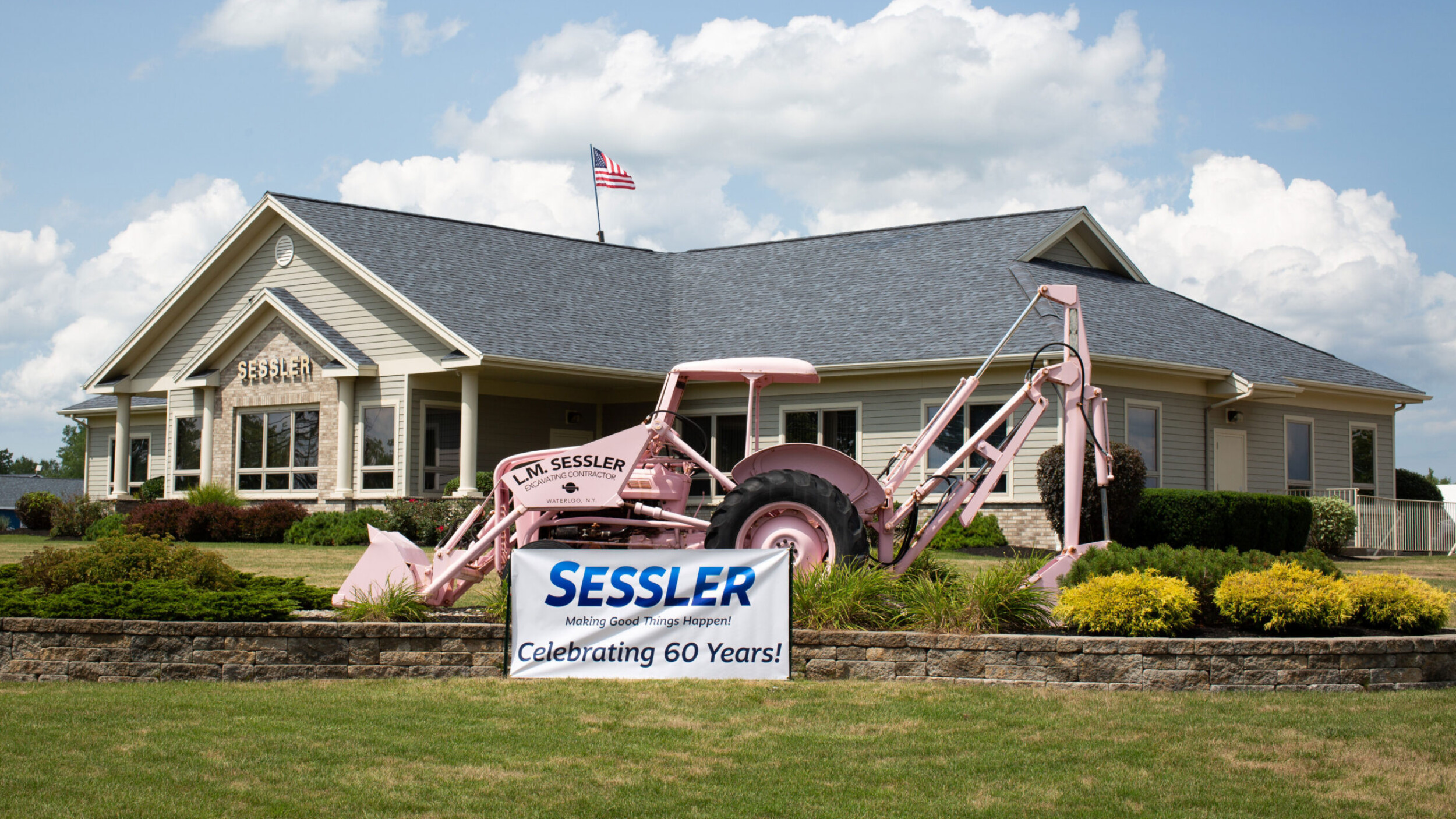Sessler Wrecking Celebrating 60 Years Pink Tractor Building