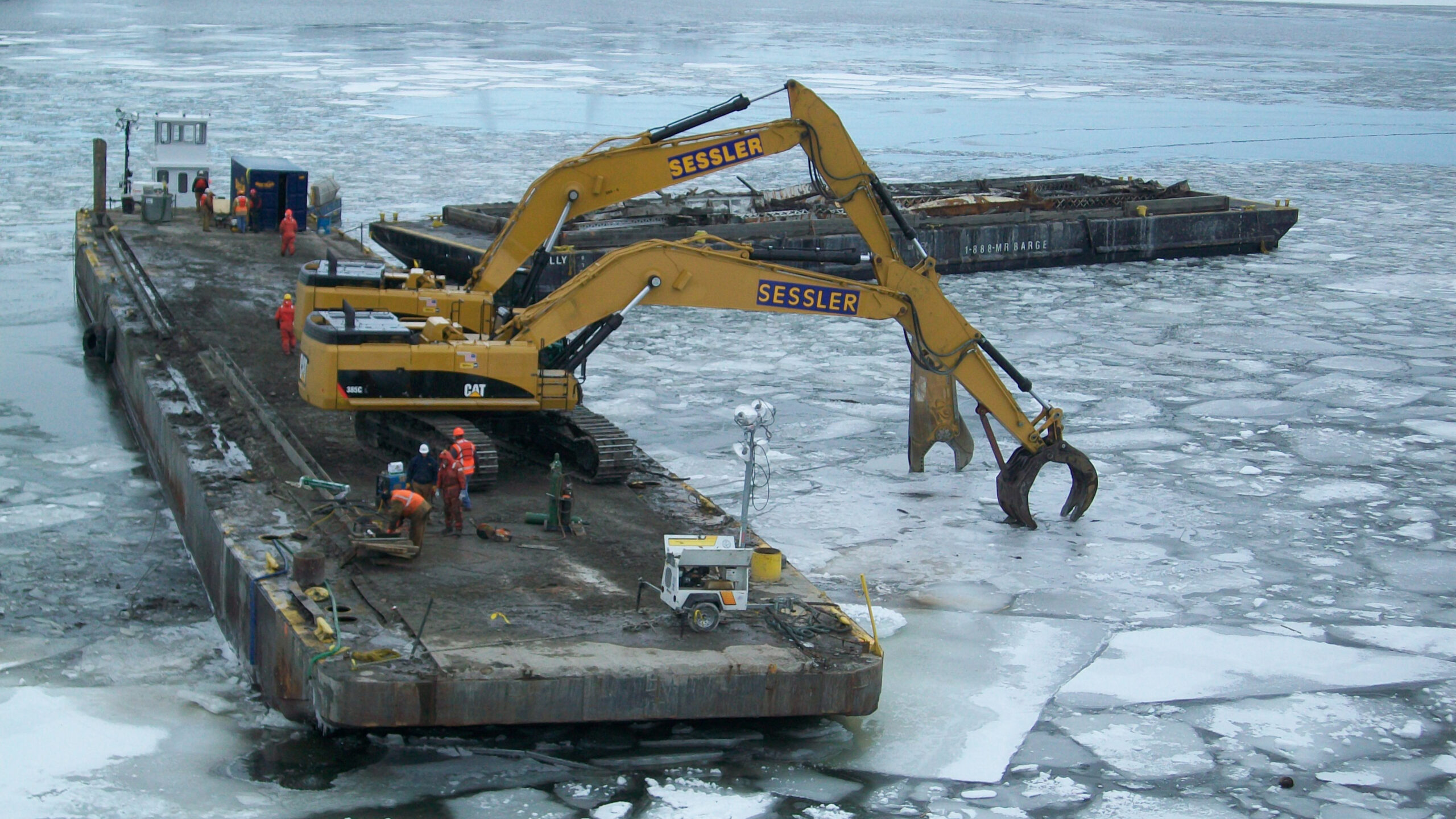 Sessler Wrecking Recovery Frozen River